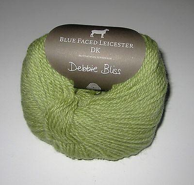 LOT of 10 balls APPLE GREEN Debbie Bliss BLUE FACED LEICESTER DK wool yarn (Debbie Bliss Blue Faced Leicester Dk Yarn)