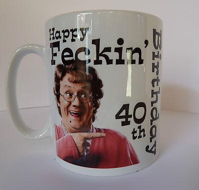 Boy Birthday Ideas (Personalised Mrs Browns Boys Birthday Mug Gift Idea 30th 40th 50th 60th etc)