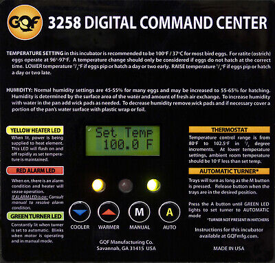 3265 - Replacement Command Center For 1502 Sportsman Incubator.