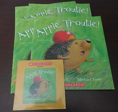 Apple Trouble R. Scamell New Scholastic Listening Center 4 Books with CD Soft