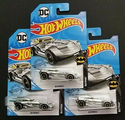 2020 Hot Wheels DC Batmobile 9/250 Batman Series 3/5 CHROME - Lot of 3