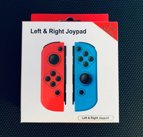 Neon Red & Blue Replacement for Nintendo Switch Joy-Con Wireless Controllers