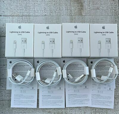 For Apple iPhone XR,XS,X,8,7,6 Original OEM Lightning USB Charger Cable 2M/6FT