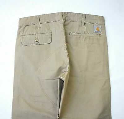 Carhartt WIP Savant Pant, Heritage Canvas, Leather Stone Washed, W28 L32