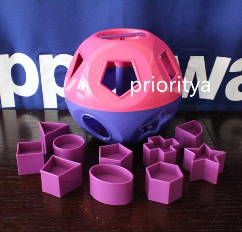 Tupperware Kid Toy Shape O Ball Toy Shape Sorter 10 Shapes Purple Pink New