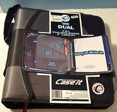 Case It Td - 110 Brand New The Dual 2 In 1 Dual Ring Binder 3in. Capacity Black