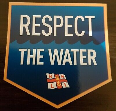 """Brand New """"RNLI RESPECT THE WATER CAR STICKER"""" (FREE POST / SAME DAY DISPATCH !)"""