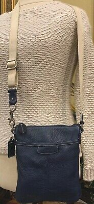 Coach Mini Crossbody Leather Shoulderbags, Purse Navy Blue Very Good Condition!