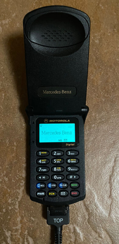 Mercedes BenzMotorola StarTAC ST 7700 Flip Phone Fw124 w140 w201W/charger