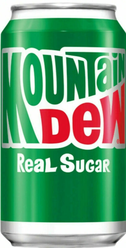 Nine 12 Packs of Mountain Dew Real Sugar 108 Cans 12oz Throwback
