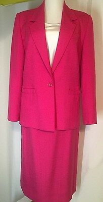 Vtg Worthington Dark Pink Career Lined Jacket & straight skirt ladies size 8 - Pink Ladies Jacket Size 26