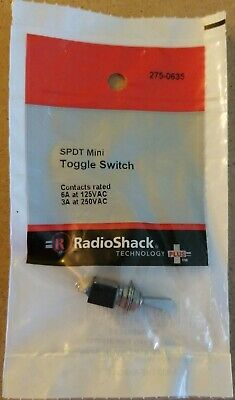 New Radioshack Spdt 6a 125vac Mini Flatted Toggle Switch 2750635 Free Ship