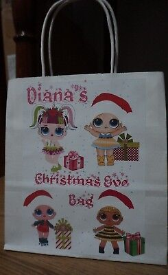 Christmas Personalised Xmas Eve Gift Bags Unicorn, Pikachu Pokemon,LOl Doll](Pokemon Gift Bags)