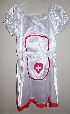 womens NEW NWOT WHITE RED SEXY NAUGHTY NURSE HALLOWEEN COSTUME DRESS SMALL 1 PC - Naughty Nurse Halloween Costume