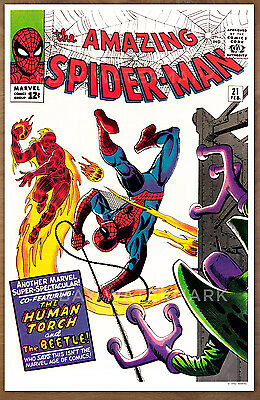 Amazing Spider Man  #21 poster art print '92  Steve Ditko The Beatle Human Torch