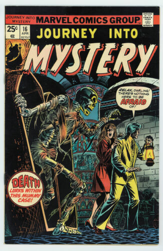 JOURNEY INTO MYSTERY #16 8.5 2ND SERIES HIGH GRADE OW/W PAGES 1975