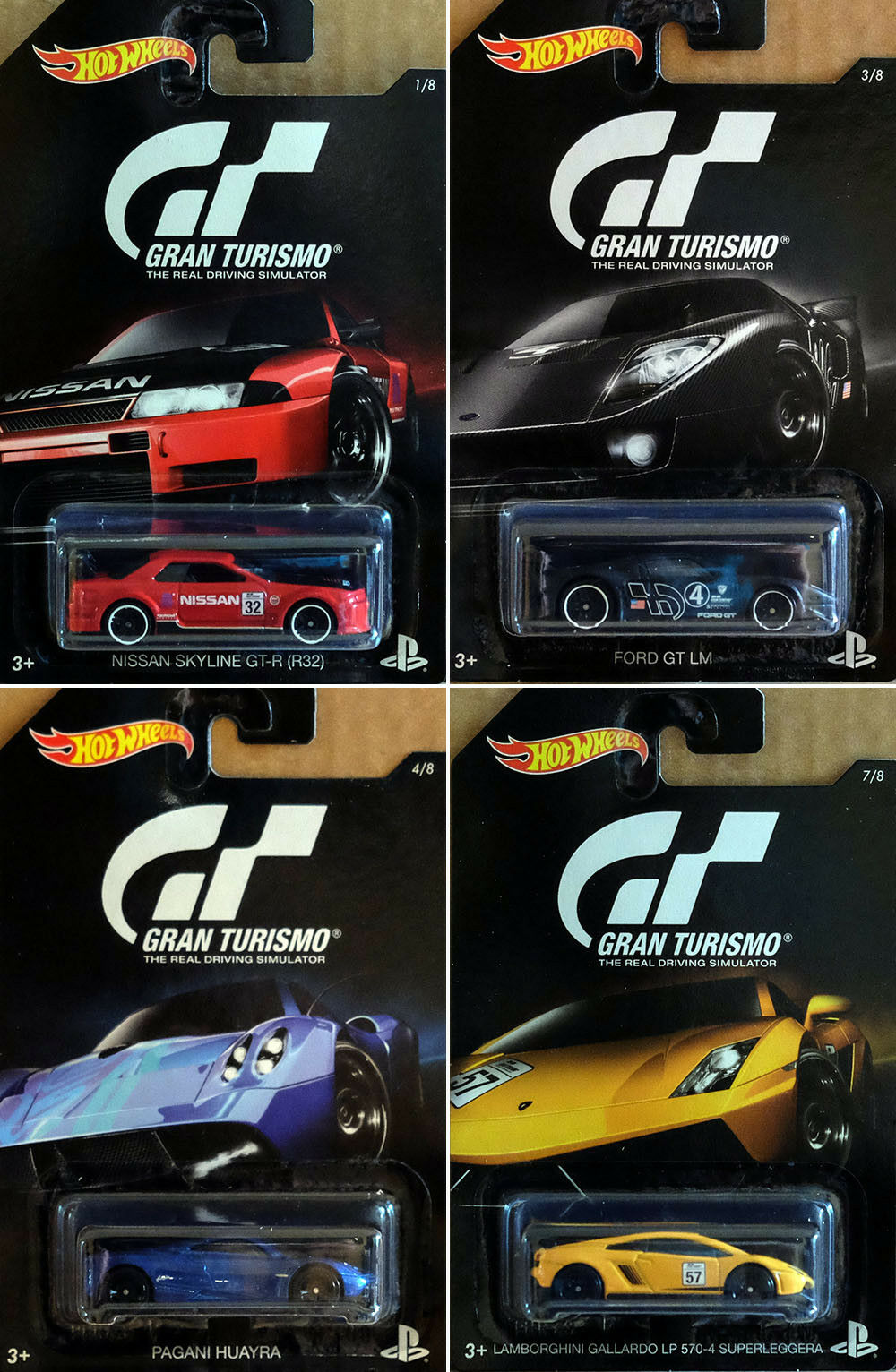 PlayStation Gran Turismo Sortiment Set 13 Modellautos Retro PS 1:64 Hot Wheels
