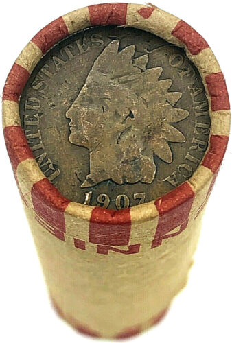 Indian Head Penny on Wheat Cent Roll Rare OLD US Cents Mixed Dates Pennies Coins