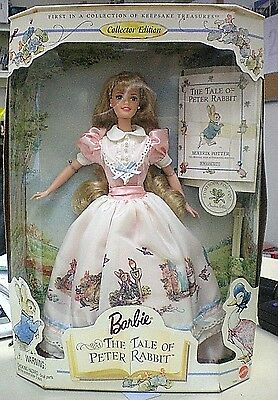 1997 The Tale of Peter Rabbit Collector Editon Barbie  # 19360. Free Shipping