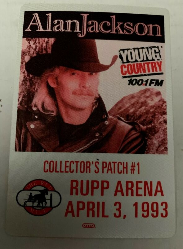 ALAN JACKSON YOUNG COUNTRY RUPP ARENA 1993 COLLECTOR PATCH NEW FABRIC RARE 🤗