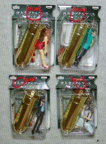 NEW LUPIN 3rd COMPLETE 4pc Set BULLET Key Chain BANPRESTO JAPAN 2000 USA SELLER