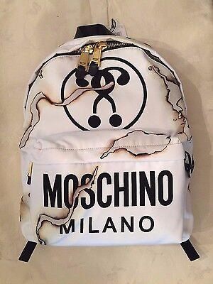 SALE! Moschino Couture X Jeremy Scott Burnt Effect Smoke Fashion Kills Backpack
