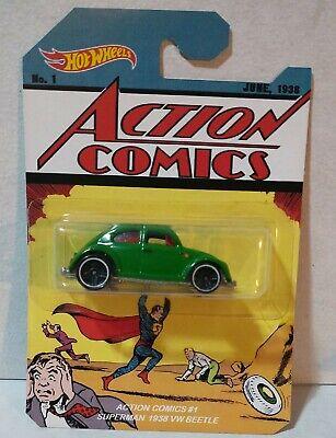 Custom hot wheels Superman Action comics #1 1938 vw bettle 1:64