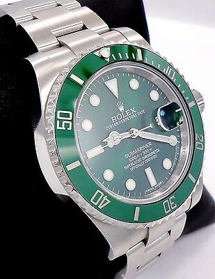Rolex Submariner GREEN HULK 116610LV Stainless Steel Ceramic Bezel *MINT*