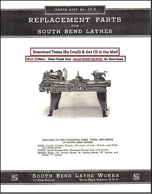 South Bend Lathe No. 17-c Parts List Series O N R And T 1937 Sb19