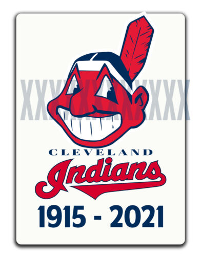CLEVELAND INDIANS CHIEF WAHOO DECAL 1915-2021 Name Change Tribute Sticker