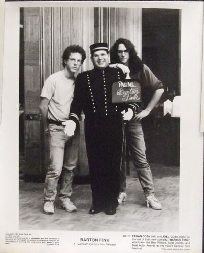 The Cohen brothers on the set of BARTON FINK winner of Best Picture, Director