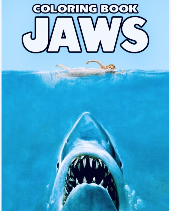 jaws coloring book horror