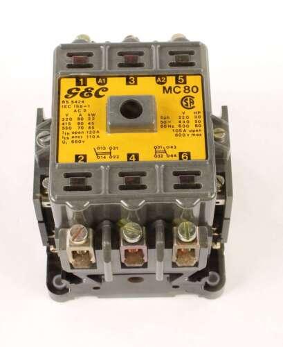 New MC80 GEC Industrial Controls A.C. Contactor