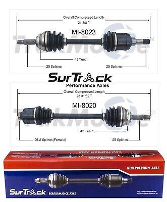 For Chrysler Sebring Dodge Avenger 2.5L FWD Set 2 Front CV Axle Shafts SurTrack