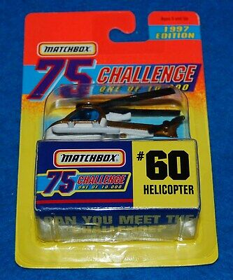 Matchbox 75 Challenge #60 Helicopter, 1997,  New