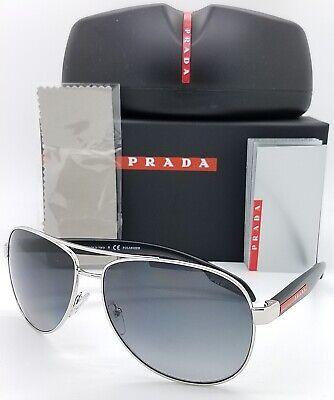 New Prada sunglasses PS53PS 1BC5W1 62mm Polarized Grey Gradient Linea AUTHENTIC
