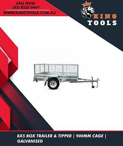 8X5 TRAILER-TIPPER-900MM CAGE GALVANISED