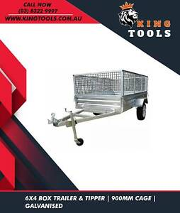 6X4 900MM CAGE TRAILER-TIPPER-GALVANISED