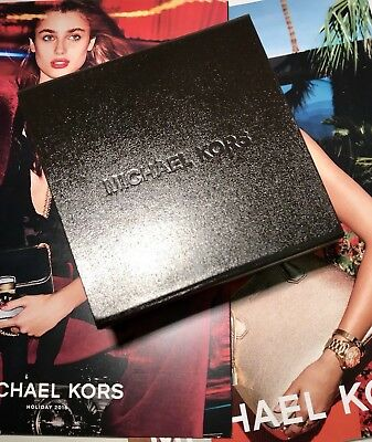 New MICHAEL KORS Dark Brown Leather Jewelry Gift Box with Magnetic Closure](Jewelry Gift Boxes Michaels)