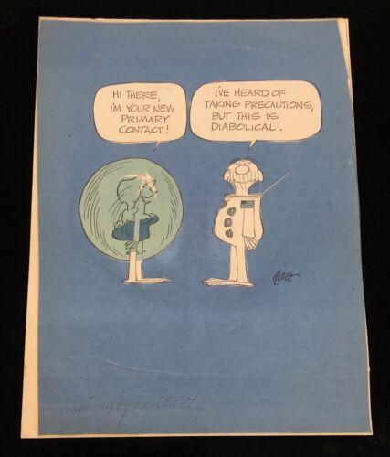 B.C. COMICS JOHNNY HART NASA / OFFICE INSPIRED ARTWORK *THE CUTE CHICK*