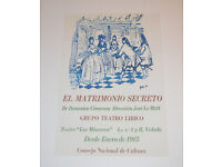 Cuban Theater Poster Art.Home Room Decoration.El conejito descontento.Children.