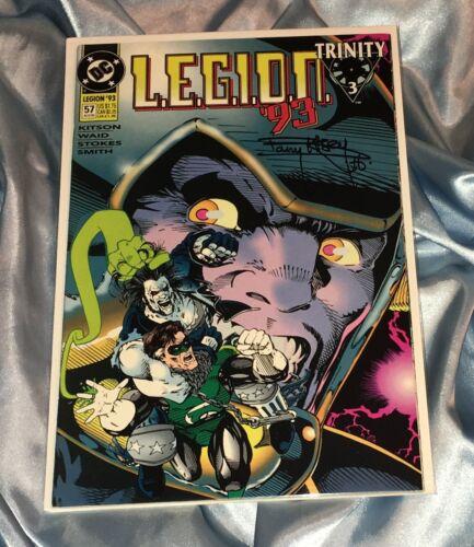 LEGION '93 ISSUE #57~HAND-SIGNED BY BARRY KITSON~AZRAEL/SUPERMAN/JLA/BATMAN~LOBO