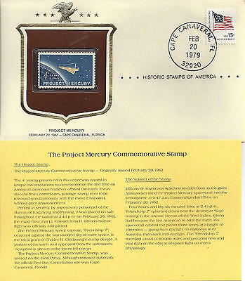 Historic Stamps of America PROJECT MERCURY Commemorative Stamp ROCKET