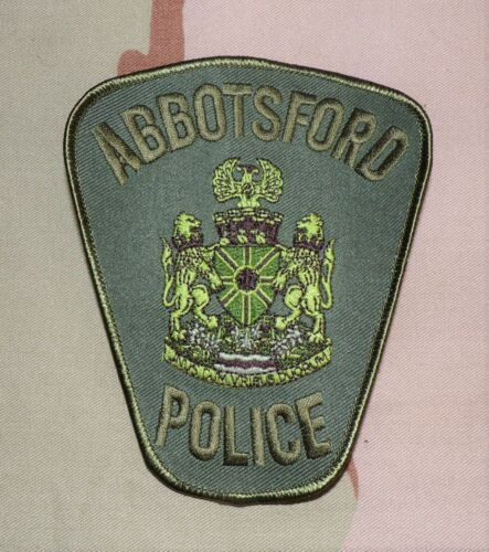 Canada Abbotsford BC Police SWAT SRT Law Enforcement Subdued Shoulder Patch