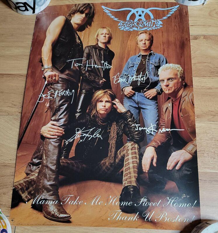 2001 Aerosmith Poster Mama Take Me Home - Thank You Boston