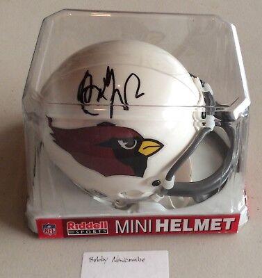 Nfl Arizona Cardinals (Bobby Newcombe Autographed Arizona Cardinals Riddell NFL Official Mini Helmet)