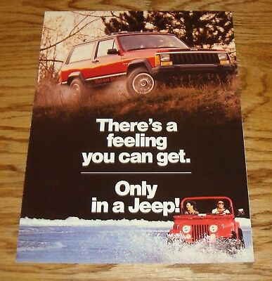 Original 1985 Jeep Full Line Sales Brochure 85 CJ Cherokee J-20 J-10 Comanche