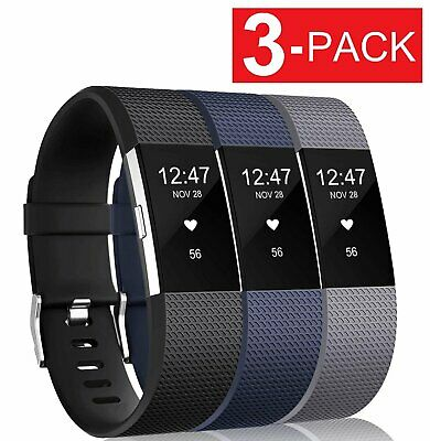 3 PACK for Fitbit Charge 2 Replacement Bracelet Watch Band Heart Rate Fitness Jewelry & Watches