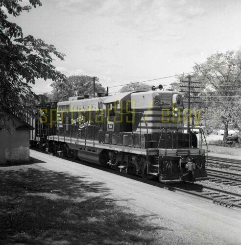 CBQ Burlington Route EMD GP7 Locomotive #241 - Vintage Railroad Negative