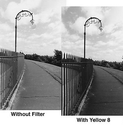 Tiffen 72 72mm Yellow 8 Filter - 728y2 - For Black + White -
